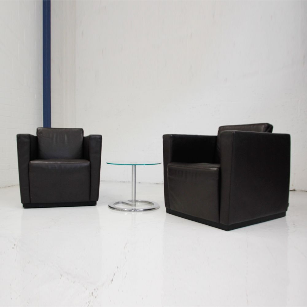 & Elton Armchair by Walter Knoll | leather armchair | leather cube chair